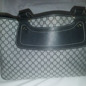 Authentic Celine handbag navy blue and gray